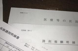 医療費報酬明細書の写真・画像素材[2872478]
