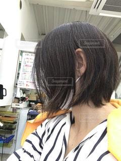 伸びた髪の写真・画像素材[3467088]