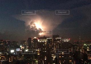 東京の雷の写真・画像素材[2003917]