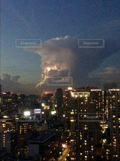 東京の雷の写真・画像素材[2003918]