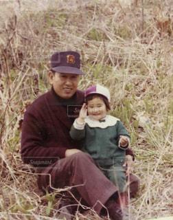 大好きな父と一緒に!の写真・画像素材[2219139]