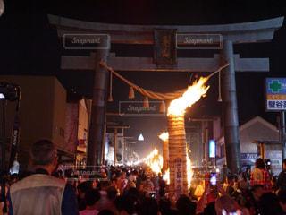 吉田の火祭りの写真・画像素材[2059059]