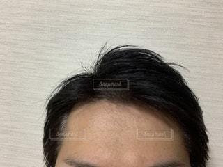 前髪の生え際の写真・画像素材[2668075]