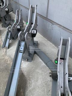 自転車用駐輪の写真・画像素材[4056737]