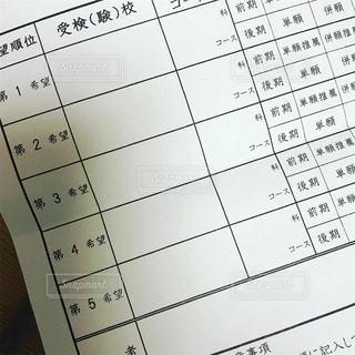 高校受験、志望校記入フォームの写真・画像素材[2187043]
