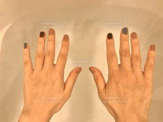水の中・人の手の写真・画像素材[3085228]