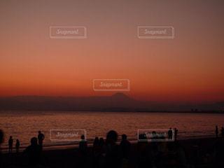 片瀬江ノ島からの富士山の写真・画像素材[2027251]