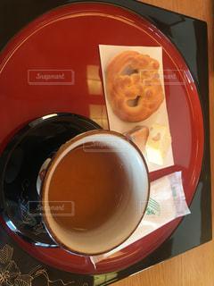 首里城の鎖之間で琉球菓子とさんぴん茶の写真・画像素材[2016343]