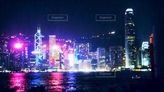 香港の夜景の写真・画像素材[2051099]