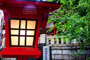 赤い建物のクローズアップの写真・画像素材[2275366]