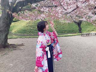 葉桜と袴。の写真・画像素材[2026687]