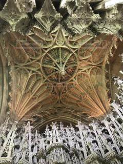 バロック様式の大聖堂の天井の写真・画像素材[2038583]