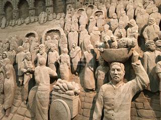 鳥取砂丘の砂像の写真・画像素材[2085895]