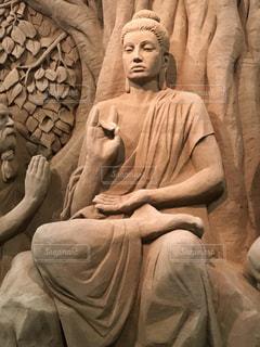 ブッタの砂像の写真・画像素材[2085903]