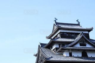 青空に映る城の写真・画像素材[2166476]