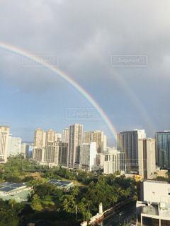 ダブルレインボー in Hawaiiの写真・画像素材[2037319]