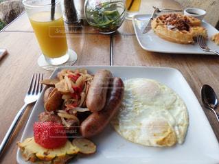 ハワイでの朝食の写真・画像素材[2398848]