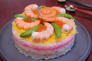 ちらし寿司ケーキの写真・画像素材[4274949]