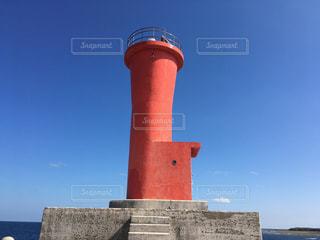 久米島の赤灯台の写真・画像素材[2040083]