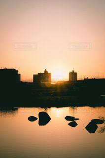夕日の写真・画像素材[2055958]