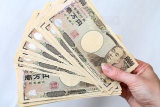 一万円札の札束の写真・画像素材[2247578]