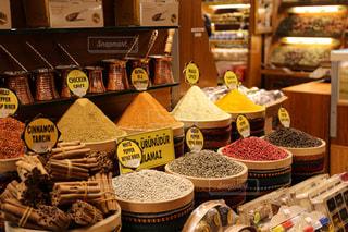 トルコの市場のスパイス売場の写真・画像素材[3416879]
