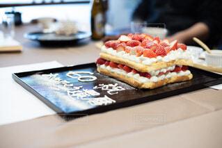 還暦祝いのケーキの写真・画像素材[4190296]