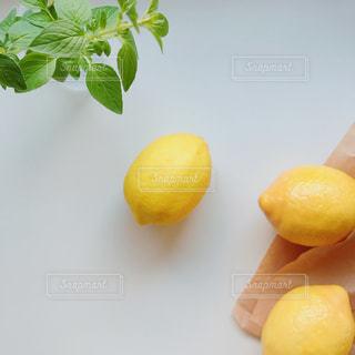 テーブルの上のレモンの写真・画像素材[2172486]