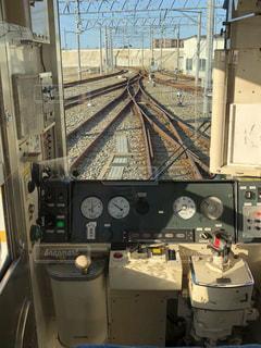 ローカル線の運転席2の写真・画像素材[2047156]