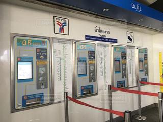 タイの駅でのチケット売り場の写真・画像素材[2066171]