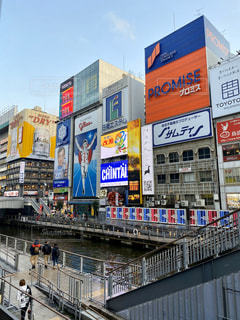 大阪 道頓堀のグリコサインの写真・画像素材[2993964]