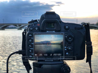 夕日撮影の写真・画像素材[2455473]