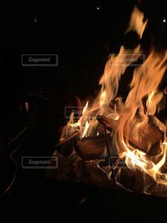 焚き火台の写真・画像素材[2425246]