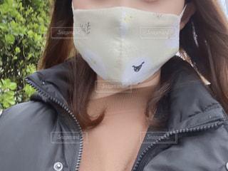 手作りマスクとあの子の写真・画像素材[3094946]
