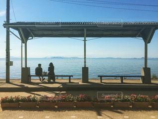 海に1番近い駅の写真・画像素材[2066858]