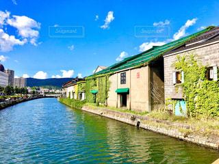 晴れた日の小樽運河の写真・画像素材[2089382]