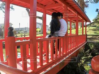 赤い橋の写真・画像素材[2139623]