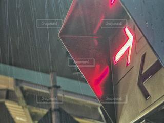 雨と踏切との写真・画像素材[744742]