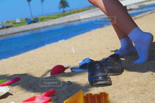 浜辺に立っての写真・画像素材[2224482]