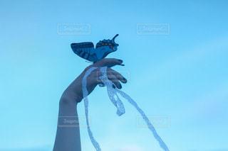 空を飛んでいる人の写真・画像素材[3109750]