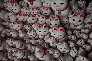 招き猫の集会の写真・画像素材[2083839]
