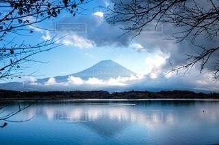 田貫湖から見えた富士山の写真・画像素材[3869766]