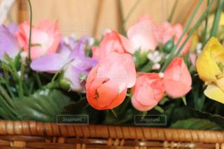 カラフルな造花のインテリアの写真・画像素材[2235528]
