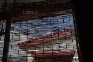 家の玄関に下がっている簾の写真・画像素材[2328641]