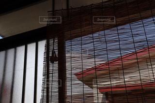 家の玄関に下がっている簾の写真・画像素材[2328644]