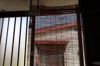 家の玄関に下がっている簾の写真・画像素材[2328669]