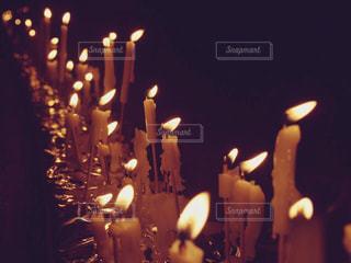 夜はライトアップ ランプの写真・画像素材[1416358]