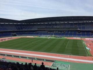 試合前のスタジアムの写真・画像素材[2089311]