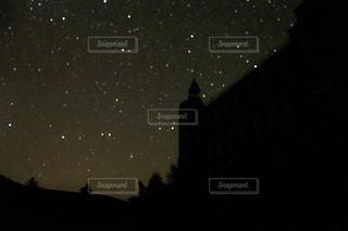 とある日の星空の写真・画像素材[2092610]