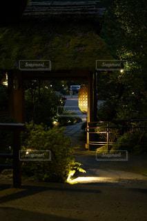 夜の通りのクローズアップの写真・画像素材[2442802]